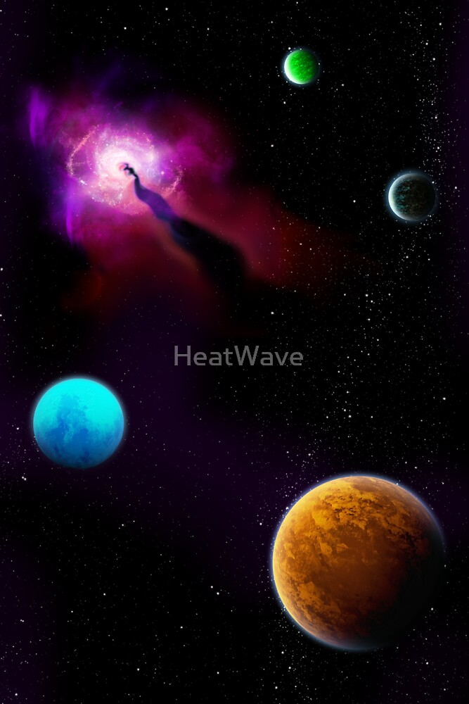 A Scene from Space (Portrait) by HeatWave