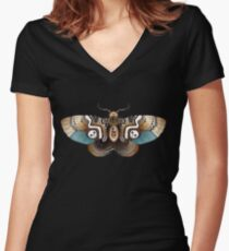 Clockwork Moth Women's Fitted V-Neck T-Shirt