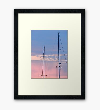 Masts in the Sunset Framed Print