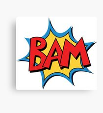 COMIC BOOK: BAM! Canvas Print