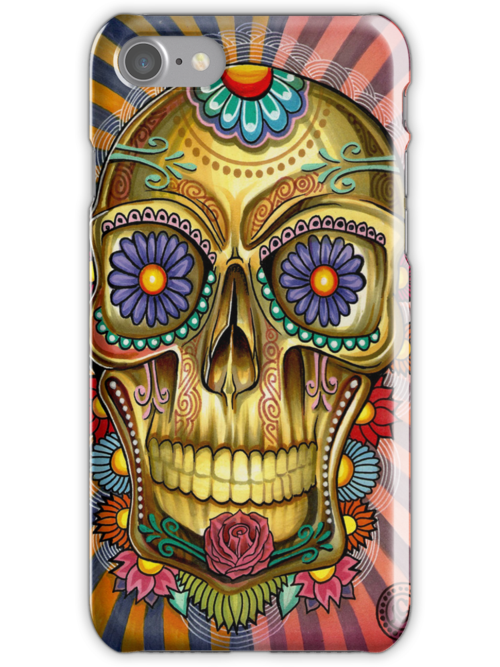Skully Iphone case by Psycheart