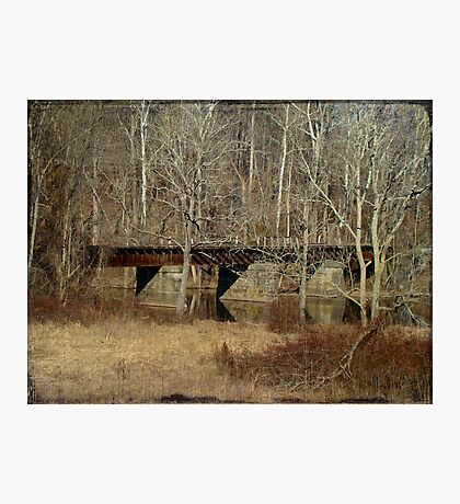 Derelict Railroad Bridge - Green Lane Reservoir - Pennsylvania Photographic Print