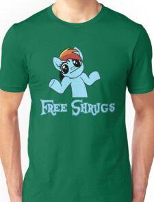 Rainbow Dash: Free Shrugs Unisex T-Shirt