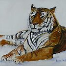 Tiger Painting  by Wayne Dowsent