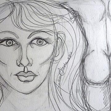 Unashamed Desire Drawing by AntheaSlade