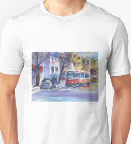 Streetcar in The Beaches, Toronto T-Shirt