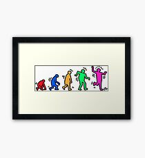 HARING EVOLVES by Tai's Tees Framed Print
