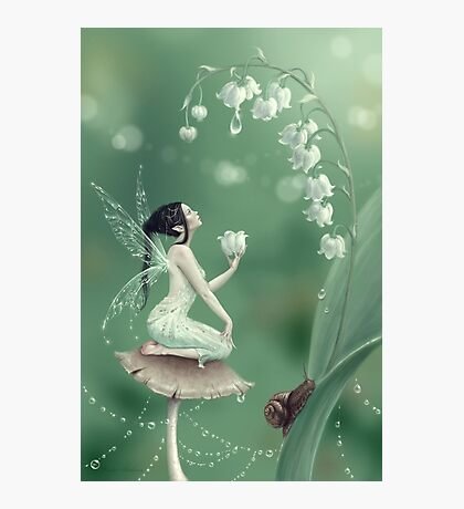 Lily of the Valley Flower Fairy Photographic Print