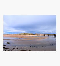 Lossiemouth Bridge and Clouds Photographic Print