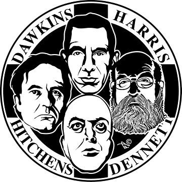 Four Horsemen: New Atheists by Tai's Tees by TaiNewYork