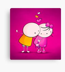 Cute Couple Canvas Print