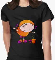 Me And My Flower Womens Fitted T-Shirt