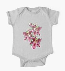 3 LILIES TEE SHIRT/BABY GROW/STICKER One Piece - Short Sleeve