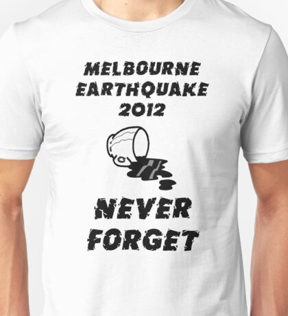 Melbourne Earthquake 2012 Commemorative Shirt T-Shirt