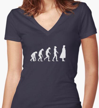 Sherlock - Evolution Women's Fitted V-Neck T-Shirt