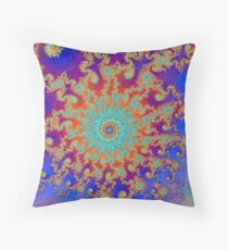 Hurricane In Fractal Land Throw Pillow