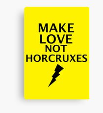 Make Love not Horcruxes Canvas Print