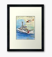 USCG Storis Nautical Chart Map Cathy Peek Framed Print