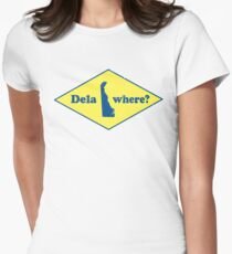 Delawhere? Vintage Delaware Women's Fitted T-Shirt