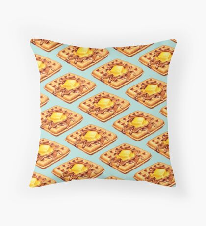 Waffle Pattern Throw Pillow