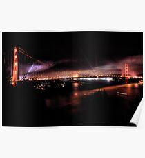 Fireworks - 75th Anniversary of the Golden Gate Bridge Poster
