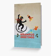 Krampus Greetings III Greeting Card