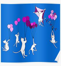 Flying Cats Poster