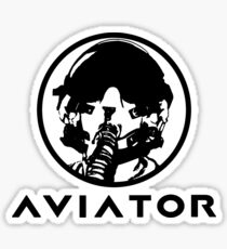 Aviator Fighter Pilot Sticker