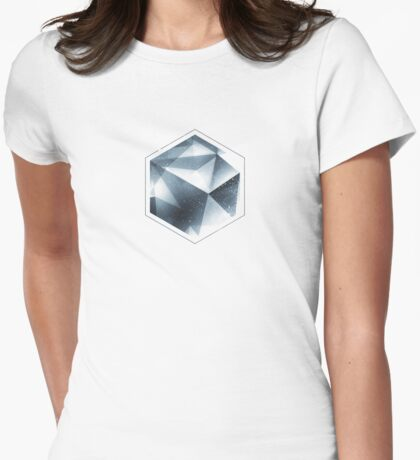 Abstract geometric triangle pattern ( Carol Cubism Style) in ice silver - gray T-Shirt