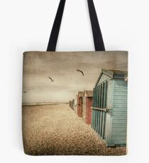 Hayling Island Beach Huts Tote Bag