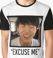 Jimin Excuse Me With Words Graphic T-Shirt