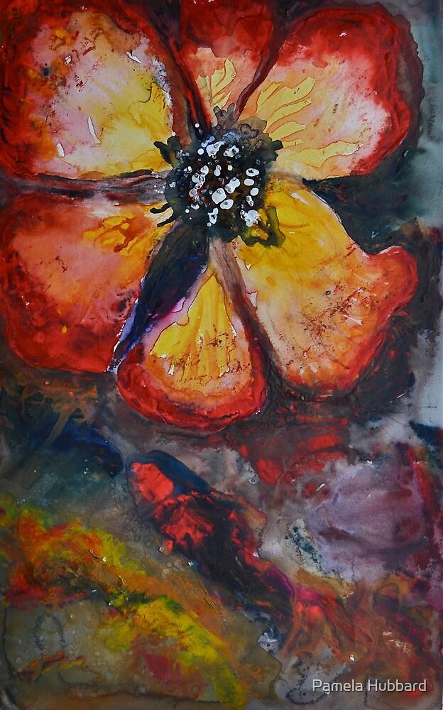 Red Flower by Pamela Hubbard