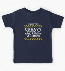 School of Hard Knocks - Navy - Dark Colors Kids Tee