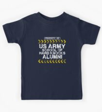 School of Hard Knocks - Army - Dark Colors Kids Tee