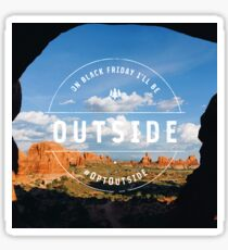 REI Opt Outside Arches NP Sticker