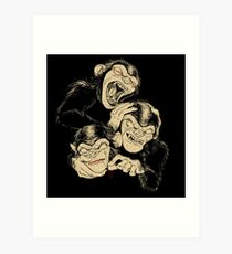 Three Wise Monkeys Art Print