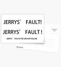 PARKS AND REC, JERRY'S FAULT! Postcards