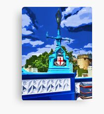 The Tower Lamp Post Canvas Print