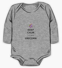 Keep Calm is Just a Unicorn  One Piece - Long Sleeve