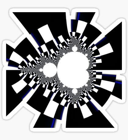 Mandelbrot XVI - Black Sticker