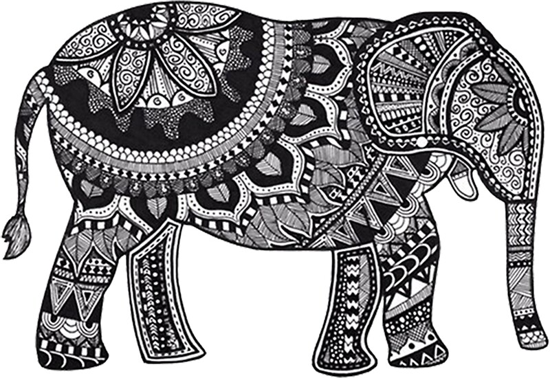 """mandala elephant"" stickersdaniellacurcio  redbubble"