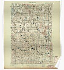 USGS Topo Map Washington State WA Oakesdale 242889 1905 125000 Poster