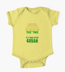 Tick Tock: It's Time to Go Green One Piece - Short Sleeve