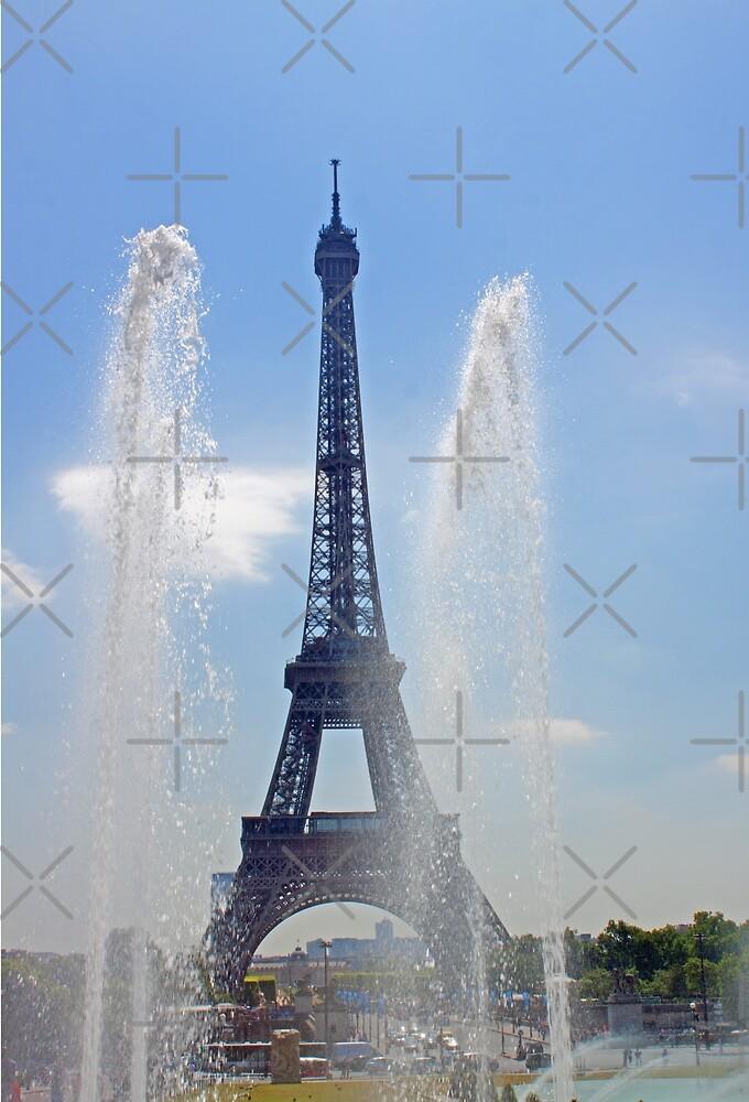 Eiffel Tower - Tour Eiffel & Trocadero Fontains by Buckwhite