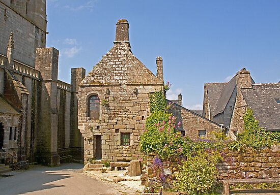 Old House in Locronan, Brittany France by Buckwhite