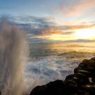 Haena Water Spout by thatche2