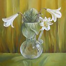 Lily in glass vase by Elena Oleniuc