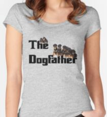 The Dog Father - Rottweiler Litter Women's Fitted Scoop T-Shirt
