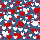 Red, White, and Blue Hearts by redqueenself