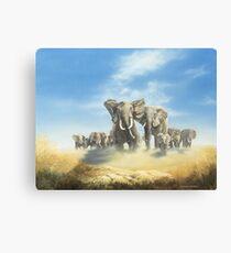 Serengeti Family Canvas Print